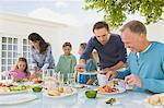 Family having breakfast at the dining table Stock Photo - Premium Royalty-Free, Artist: Susan Findlay, Code: 6108-05866333