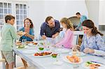 Family having breakfast at the dining table Stock Photo - Premium Royalty-Free, Artist: Cultura RM, Code: 6108-05866350