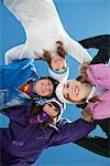 Four teenagers in ski clothes, smiling at camera Stock Photo - Premium Royalty-Free, Artist: Cultura RM, Code: 6108-05866968