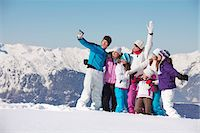 Family taking self portrait in snow Stock Photo - Premium Royalty-Freenull, Code: 6108-05867187
