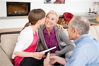 preteen kissing - Girl kissing her grandmother with her grandfather sitting beside them Stock Photo - Premium Royalty-Freenull, Code: 6108-05867579