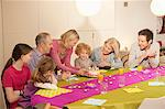 Family at a birthday celebration Stock Photo - Premium Royalty-Free, Artist: CulturaRM, Code: 6108-05867697