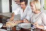 Couple having food Stock Photo - Premium Royalty-Free, Artist: Uwe Umsttter, Code: 6108-05871240