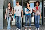 University students standing in campus Stock Photo - Premium Royalty-Freenull, Code: 6108-05871324