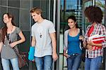 University students in campus Stock Photo - Premium Royalty-Freenull, Code: 6108-05871342