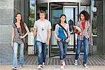 University students walking in a campus Stock Photo - Premium Royalty-Freenull, Code: 6108-05871357