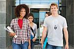 Cheerful friends in campus Stock Photo - Premium Royalty-Freenull, Code: 6108-05871360