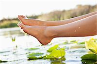 Close-up of a woman's legs Stock Photo - Premium Royalty-Freenull, Code: 6108-05871884