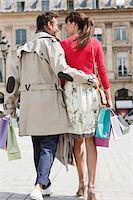 Couple walking on a street, Paris, Ile-de-France, France Stock Photo - Premium Royalty-Freenull, Code: 6108-05872823