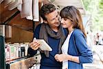 Couple at a book stall, Paris, Ile-de-France, France Stock Photo - Premium Royalty-Free, Artist: ableimages, Code: 6108-05872845