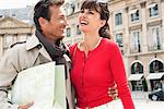 Happy couple on a street, Paris, Ile-de-France, France Stock Photo - Premium Royalty-Free, Artist: ableimages, Code: 6108-05872854