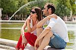 Couple sitting in a garden, Bassin octogonal, Jardin des Tuileries, Paris, Ile-de-France, France Stock Photo - Premium Royalty-Free, Artist: ableimages, Code: 6108-05873199