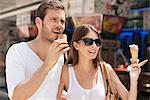 Couple eating ice creams, Paris, Ile-de-France, France Stock Photo - Premium Royalty-Free, Artist: ableimages, Code: 6108-05873220