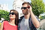 Close-up of a couple, Montmartre, Paris, Ile-de-France, France Stock Photo - Premium Royalty-Free, Artist: ableimages, Code: 6108-05873233