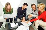 Young couple,signing document,mature couple at home, Stock Photo - Premium Royalty-Free, Artist: CulturaRM, Code: 6108-05874834