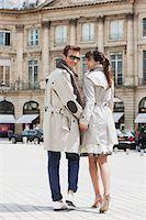 Couple walking on a street, Paris, Ile-de-France, France Stock Photo - Premium Royalty-Freenull, Code: 6108-05875134
