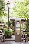 Bicycles parked near a ticket machine, Paris, Ile-de-France, France Stock Photo - Premium Royalty-Free, Artist: Chris Hendrickson, Code: 6108-05875143