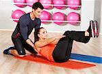 Sporty couple exercising at the fitness gym Stock Photo - Royalty-Free, Artist: dash                          , Code: 400-05875790