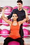 Sporty couple exercising at the fitness gym Stock Photo - Royalty-Free, Artist: dash                          , Code: 400-05875792