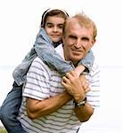 father and daughter having fun outdoors Stock Photo - Royalty-Free, Artist: zdenkadarula                  , Code: 400-05875981