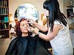 Make-up situation in a Beauty spa Stock Photo - Royalty-Free, Artist: gemenacom                     , Code: 400-05876551