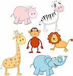 Animal cartoon illustration Stock Photo - Royalty-Free, Artist: dagadu                        , Code: 400-05877252