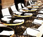 Street view of a Cafe terrace with tables and chairs,paris France Stock Photo - Royalty-Free, Artist: ilolab                        , Code: 400-05877612