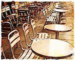 Street view of a Cafe terrace with tables and chairs,paris France Stock Photo - Royalty-Free, Artist: ilolab                        , Code: 400-05877615