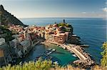 Small town Vernazza (Cinque Terre, Italy) Stock Photo - Royalty-Free, Artist: grafalex                      , Code: 400-05877779