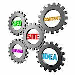 Illustration of components of structure of a website as the mechanism Stock Photo - Royalty-Free, Artist: FotoVika                      , Code: 400-05878000