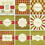 Vector set of christmas vintage backgrounds. Stock Photo - Royalty-Free, Artist: MiloArt                       , Code: 400-05878780