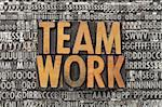 teamwork - text in vintage wood letterpress printing blocks against grunge metal typeset Stock Photo - Royalty-Free, Artist: PixelsAway                    , Code: 400-05878835