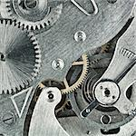 Old clock mechanic inside, clockwork close up. Stock Photo - Royalty-Free, Artist: donatas1205                   , Code: 400-05878923