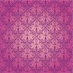 Seamless floral pattern. Beige flowers on a purple background. EPS 10 Stock Photo - Royalty-Free, Artist: juli_goncharova               , Code: 400-05879442