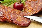 Chorizo sausage of Spain Stock Photo - Royalty-Free, Artist: Jochen                        , Code: 400-05879757