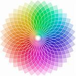 illustration of a chromatic circle shaped as a flower Stock Photo - Royalty-Free, Artist: unkreatives                   , Code: 400-05879961