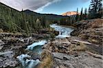Sheep River Falls Allberta Canada morning sunrise Stock Photo - Royalty-Free, Artist: pictureguy                    , Code: 400-05880056