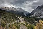 Scenic View Rocky mountains Alberta Canada Jasper Highway