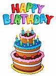 Happy Birthday topic image 1 - vector illustration. Stock Photo - Royalty-Free, Artist: clairev                       , Code: 400-05880773