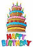 Happy Birthday topic image 2 - vector illustration. Stock Photo - Royalty-Free, Artist: clairev                       , Code: 400-05880774