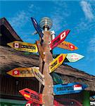 signpost with countries of the world on Boracay island, Philippines Stock Photo - Royalty-Free, Artist: hansenn                       , Code: 400-05882195