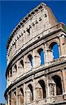 Colosseum in Rome with blue sky, landmark of the city Stock Photo - Royalty-Free, Artist: Perseomedusa                  , Code: 400-05884054