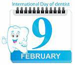 The Calendar since date. Day of dentist Stock Photo - Royalty-Free, Artist: saransk                       , Code: 400-05884078