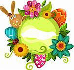 vector illustration of a easter card Stock Photo - Royalty-Free, Artist: nem4a                         , Code: 400-05884101