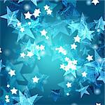 blue and white stars over azure background Stock Photo - Royalty-Free, Artist: marinini                      , Code: 400-05885626