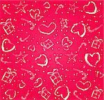 pink seamless pattern with hearts silhouette on valentine day. 14th february concept vector illustration Stock Photo - Royalty-Free, Artist: nikifiva                      , Code: 400-05886543