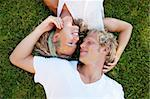 Lifestyle portrait of a happy young couple outdoors. Stock Photo - Royalty-Free, Artist: hannamonika                   , Code: 400-05887045