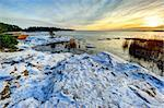 Winter sunset at the Baltic sea in Finland    Stock Photo - Royalty-Free, Artist: Kert                          , Code: 400-05887437