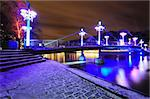 Night bridge over Aura river in Turku Stock Photo - Royalty-Free, Artist: Kert                          , Code: 400-05887444