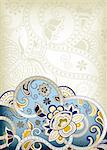 Illustration of abstract floral in asia style. Stock Photo - Royalty-Free, Artist: billyphoto2008                , Code: 400-05888752
